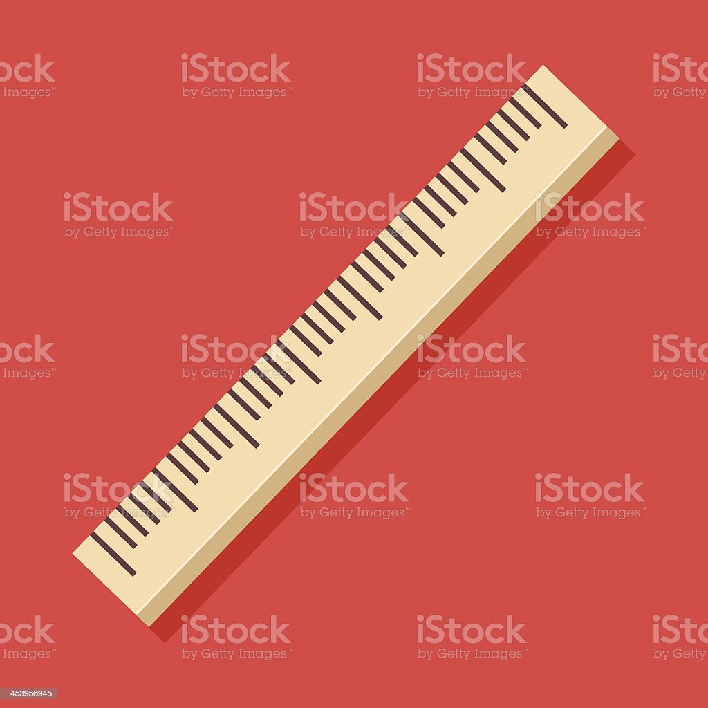 Vector Ruler Icon vector art illustration
