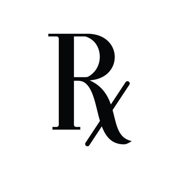Vector rx icon Vector Prescription - symbol of pharmacology rx stock illustrations