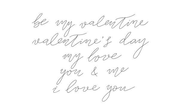 vector saint valentines day collection of hand drawn lettering. isolated vector free hand calligraphy ink sketch design. hand drawn calligraphy set for greeting cards, invitations, logo, diy projects. linear vector saint valentines day collection of hand drawn lettering. isolated vector free hand calligraphy ink sketch design. hand drawn calligraphy set for greeting cards, invitations, logo, diy projects, posters and prints. boyfriend stock illustrations