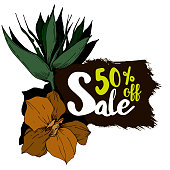 Vector sale tag with discount label. Best offer business elements design. Promotion coupon retail collection banner. Season special deal.