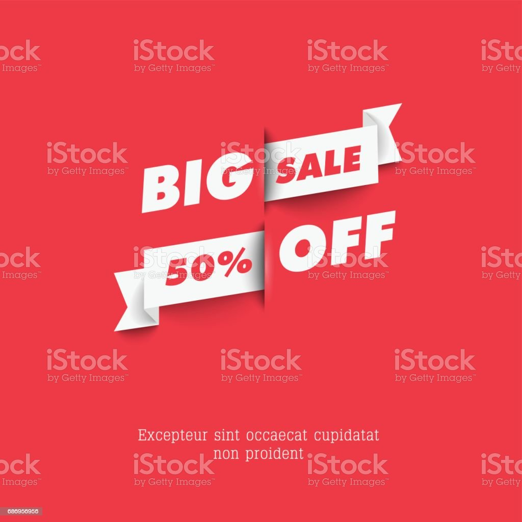 Vector sale template. vector art illustration