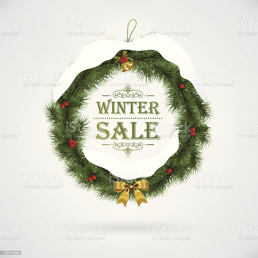 Vector sale with wreath royalty-free stock vector art