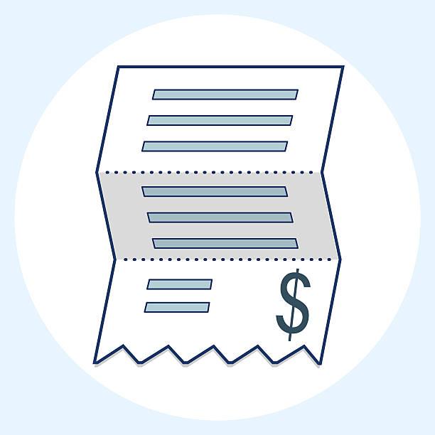 Vector sales receipt, line icon Vector sales receipt, line icon receipt stock illustrations