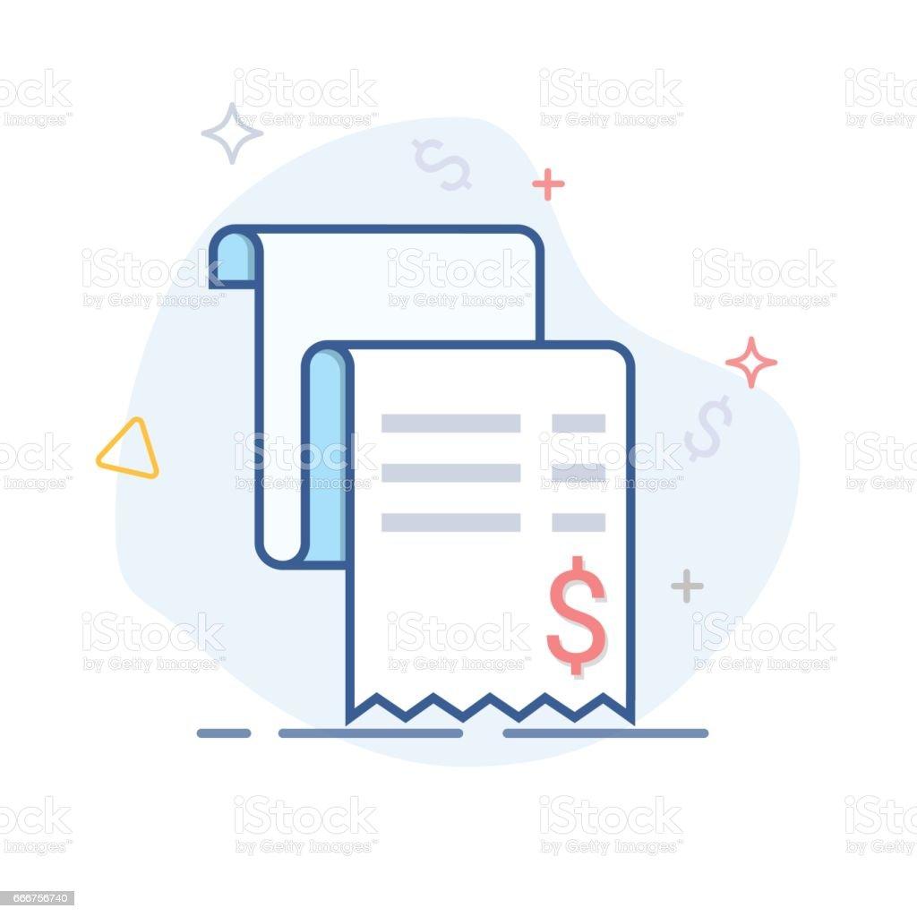Vector sales receipt, line icon vector sales receipt line icon - immagini vettoriali stock e altre immagini di affari royalty-free