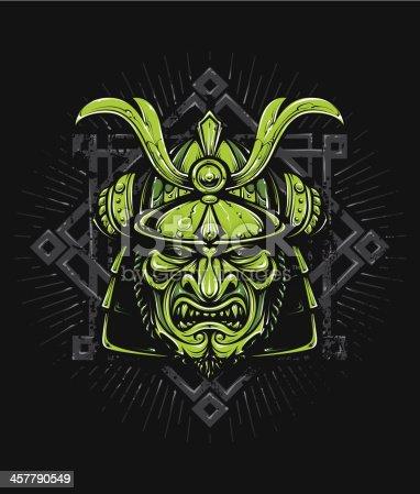 Vector samurai mask