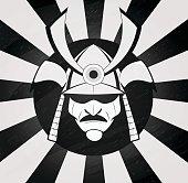 Vector samurai mask.