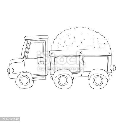 istock Coches para colorear libro para niños. Camión de bomberos y ...