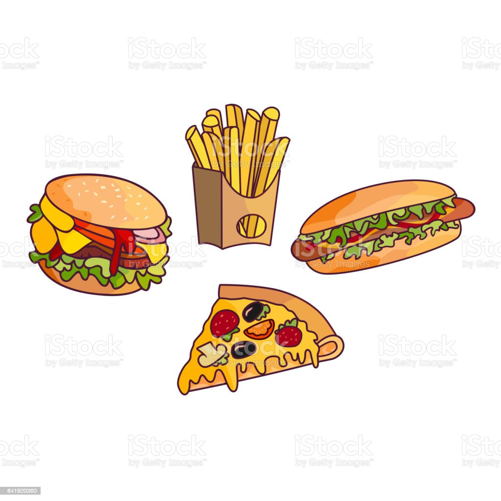 Vector Sandwich Burger Hot Dog Set Stock Vector Art More Images Of