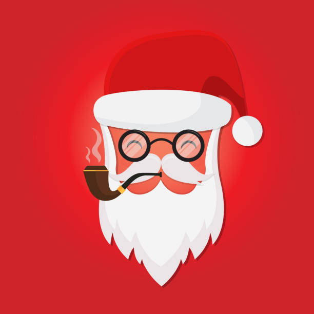 vector santa claus - secret santa messages stock illustrations