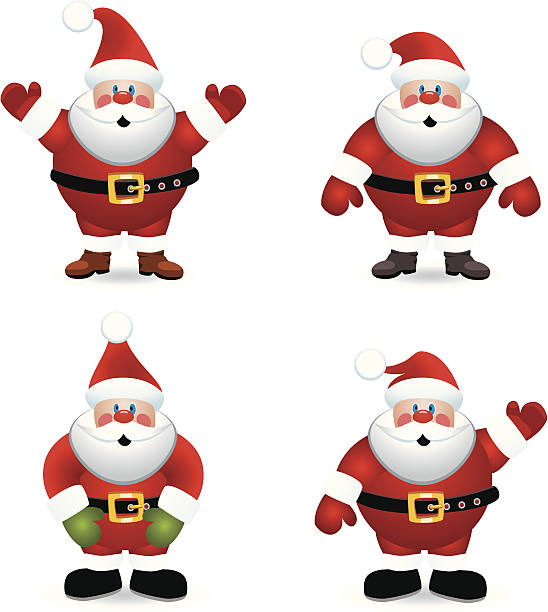 vector santa claus - old man standing background stock illustrations, clip art, cartoons, & icons