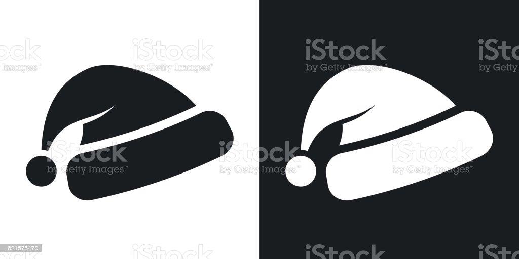 Vector Santa's hat icon. Two-tone version vector santas hat icon twotone version – cliparts vectoriels et plus d'images de accessoire libre de droits