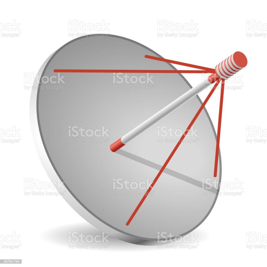 antenne parabolique vector en perspective isométrique isolé sur fond