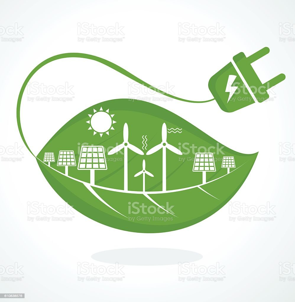 vector save energy vector art illustration