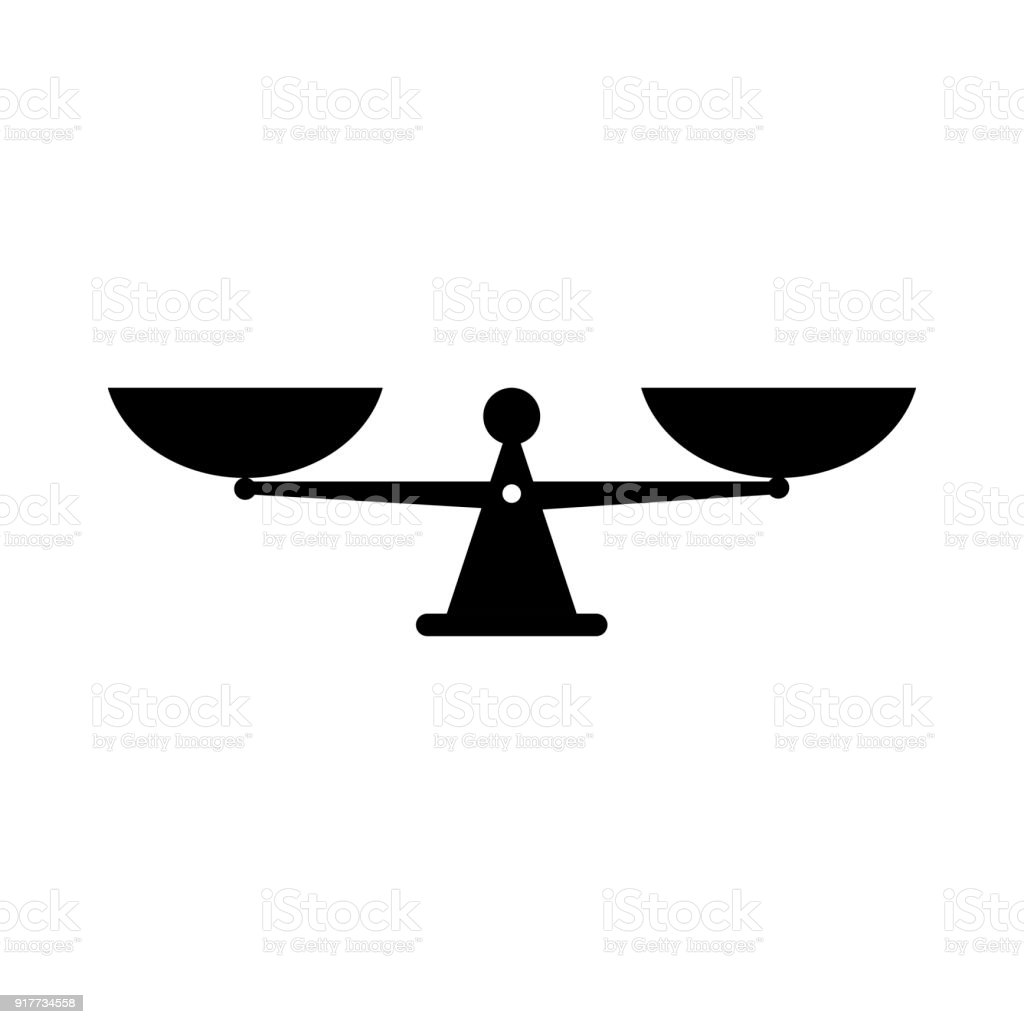 vector scales black icon stock vector art more images of acquittal rh istockphoto com vector scale people vector scale for fishing