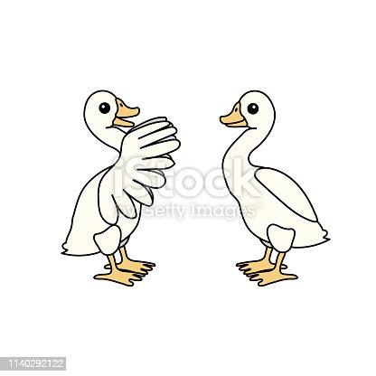 vector scandi cartoon animal clip art goose birds