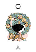 vector scandi English alphabet. Amusing Animals