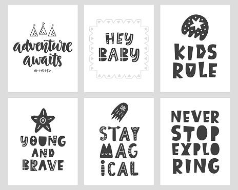 Vector Scandinavian style posters collection