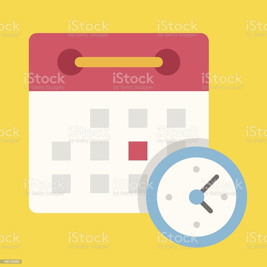 Vector Schedule Icon vector art illustration