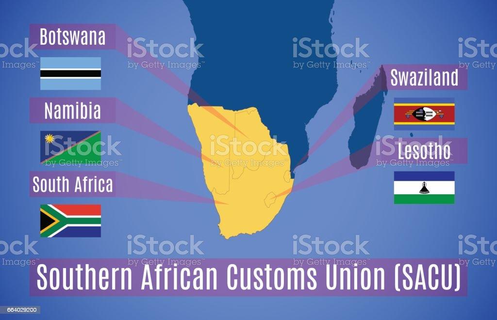ベクトル南部アフリカ関税同盟の略地図 - アフリカのベクターアート ...