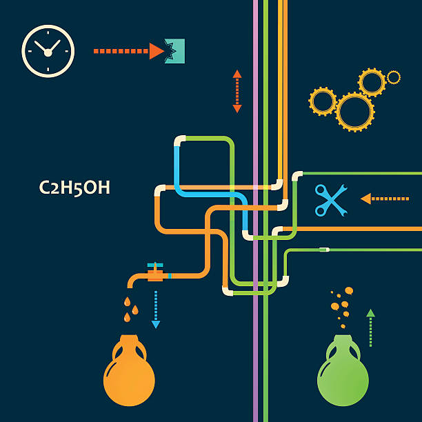 wektor programu produkcji alkoholu - tap water stock illustrations