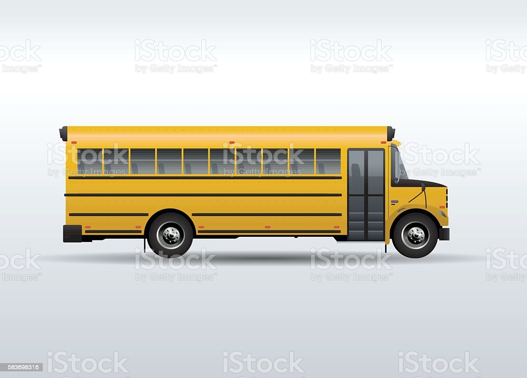 Vector school bus isolated on white background vector art illustration
