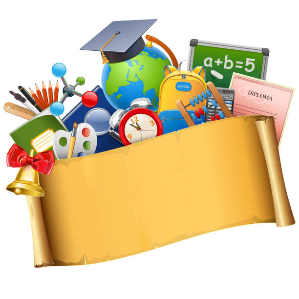 vector school graduation concept - reunion stock illustrations, clip art, cartoons, & icons