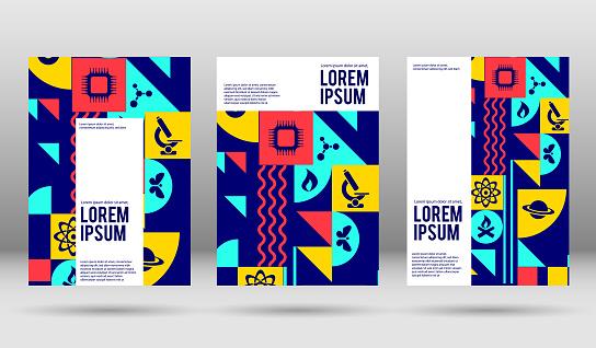 vector science cover designs