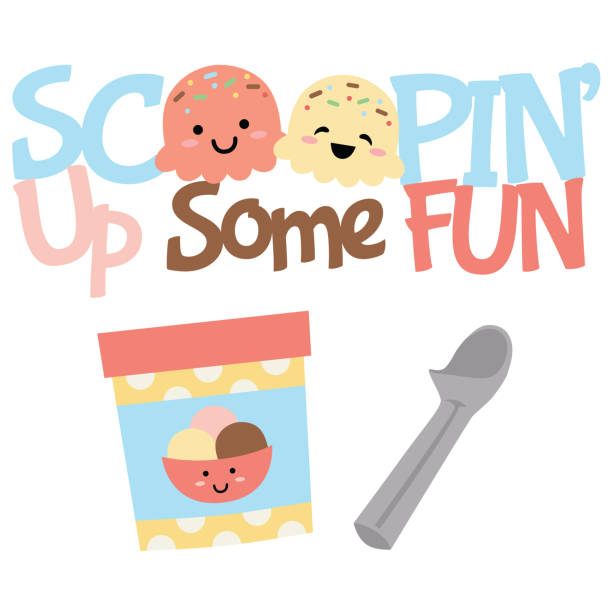 Vector Scoopin' Up Fun Ice Cream Treats Illustrations Vector Scoopin' Up Fun Ice Cream Treats Illustrations. Perfect for scrapbooking, kids, stationery, parties, clothing, and home décor projects. bowl of ice cream stock illustrations