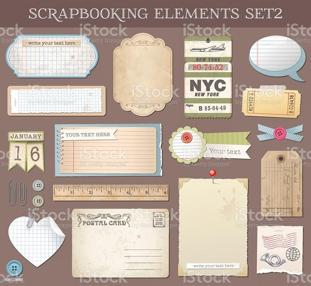 Vector Scrapbooking Elements Set 2 vector art illustration