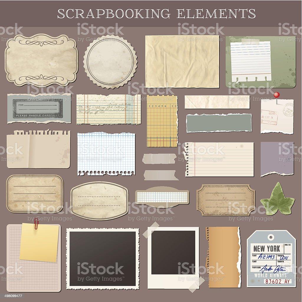 Vecteur des éléments de Scrapbooking - Illustration vectorielle