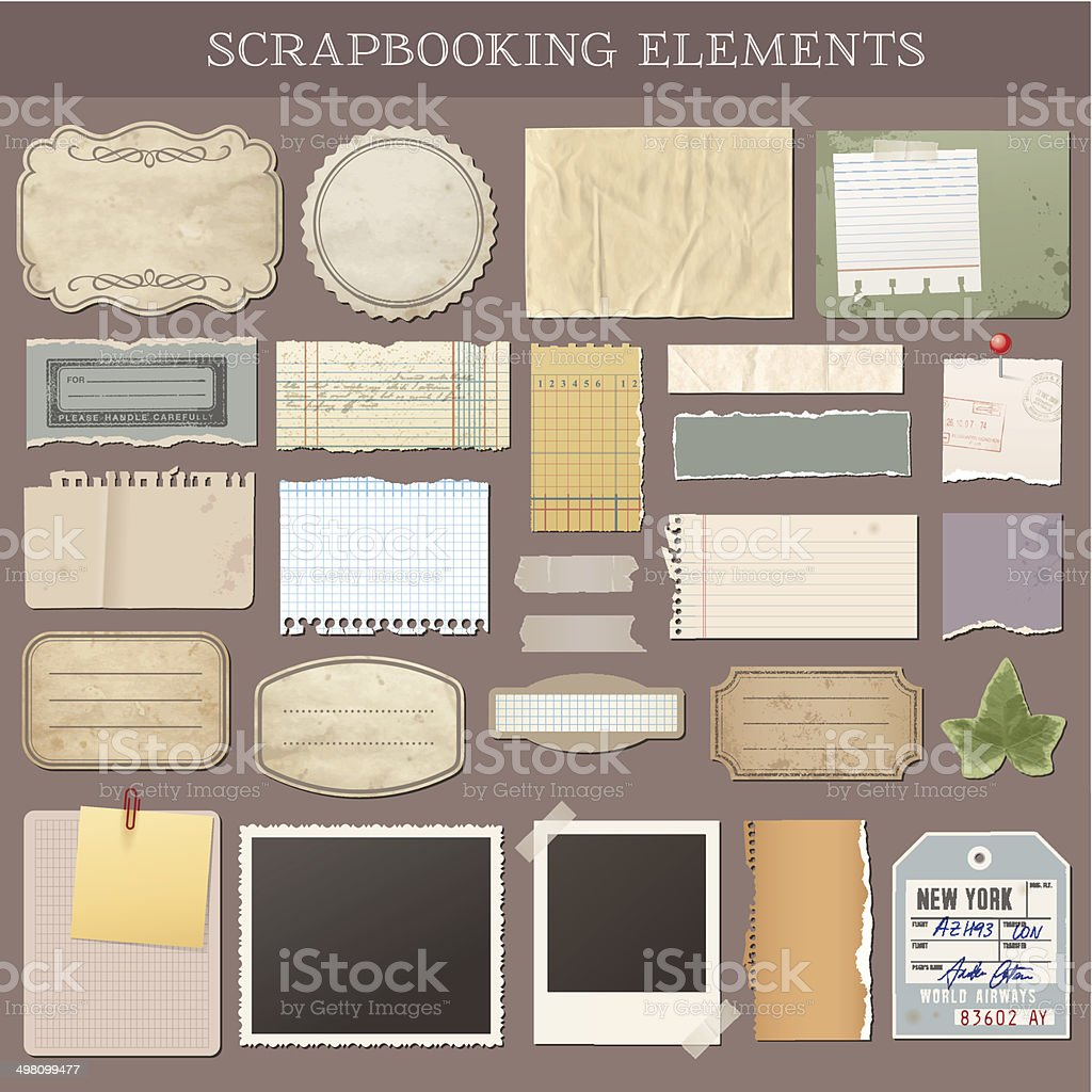 Vector Scrapbooking Elements vector art illustration