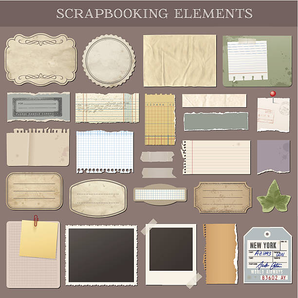 Vector Scrapbooking Elements Collection of various scrapbooking vector elements scrapbook stock illustrations