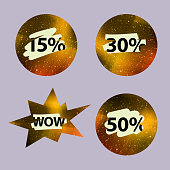 Vector Scratched Lottery Isolated Labels