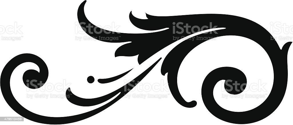 Vector Scroll Design royalty-free stock vector art
