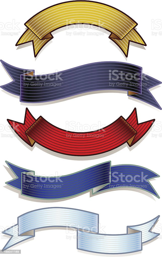 vector scroll set royalty-free stock vector art