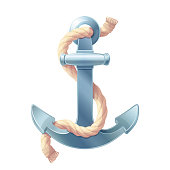 vector sea maritime icon Anchor