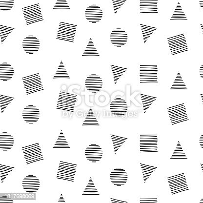 istock Vector Seamless Abstract Hand Drawn Pattern 1317698069