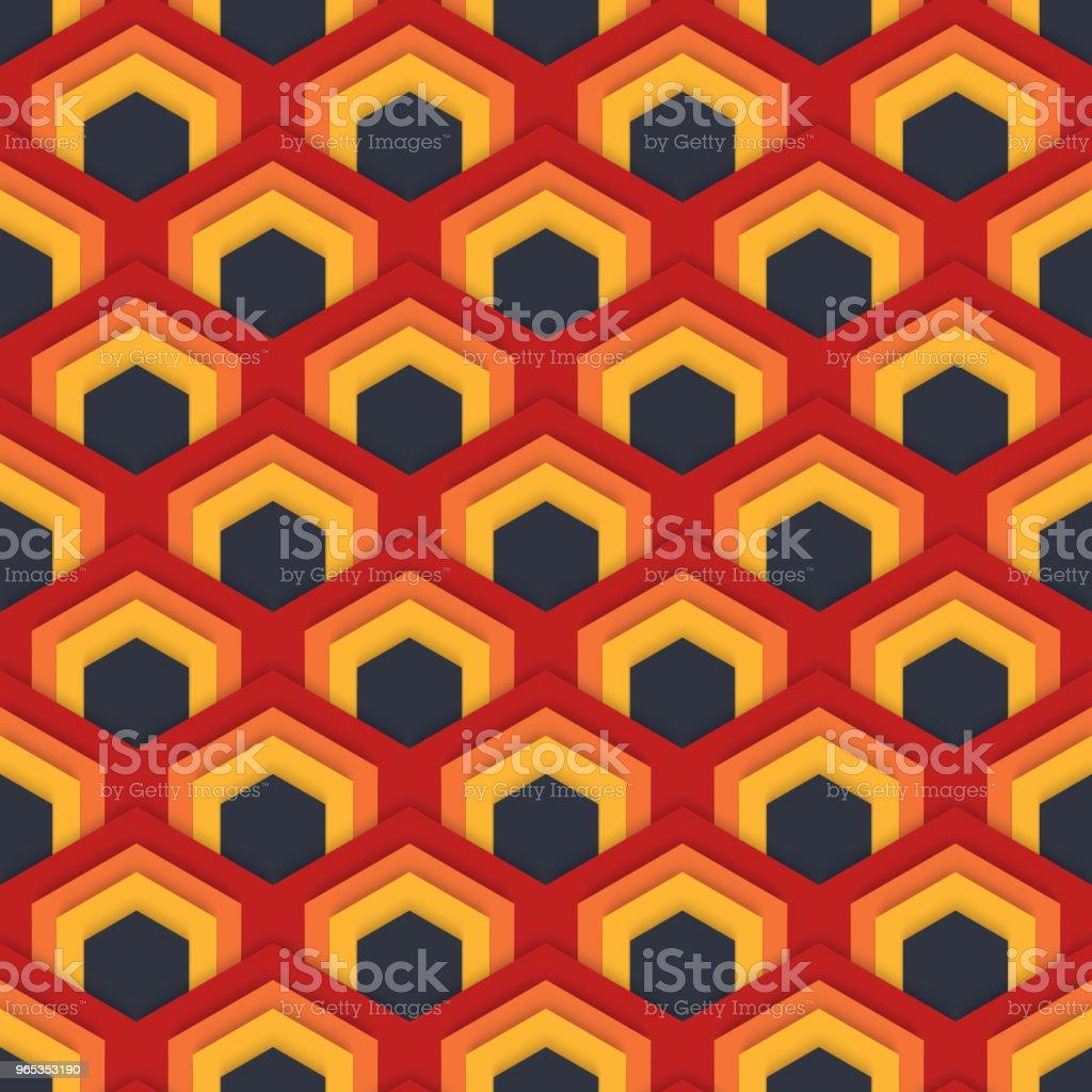 Vector seamless abstract pattern of hexagons in flat style. vector seamless abstract pattern of hexagons in flat style - stockowe grafiki wektorowe i więcej obrazów abstrakcja royalty-free