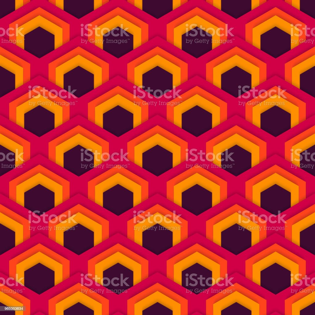 平面六邊形的向量無縫抽象模式。 - 免版稅中國文化圖庫向量圖形