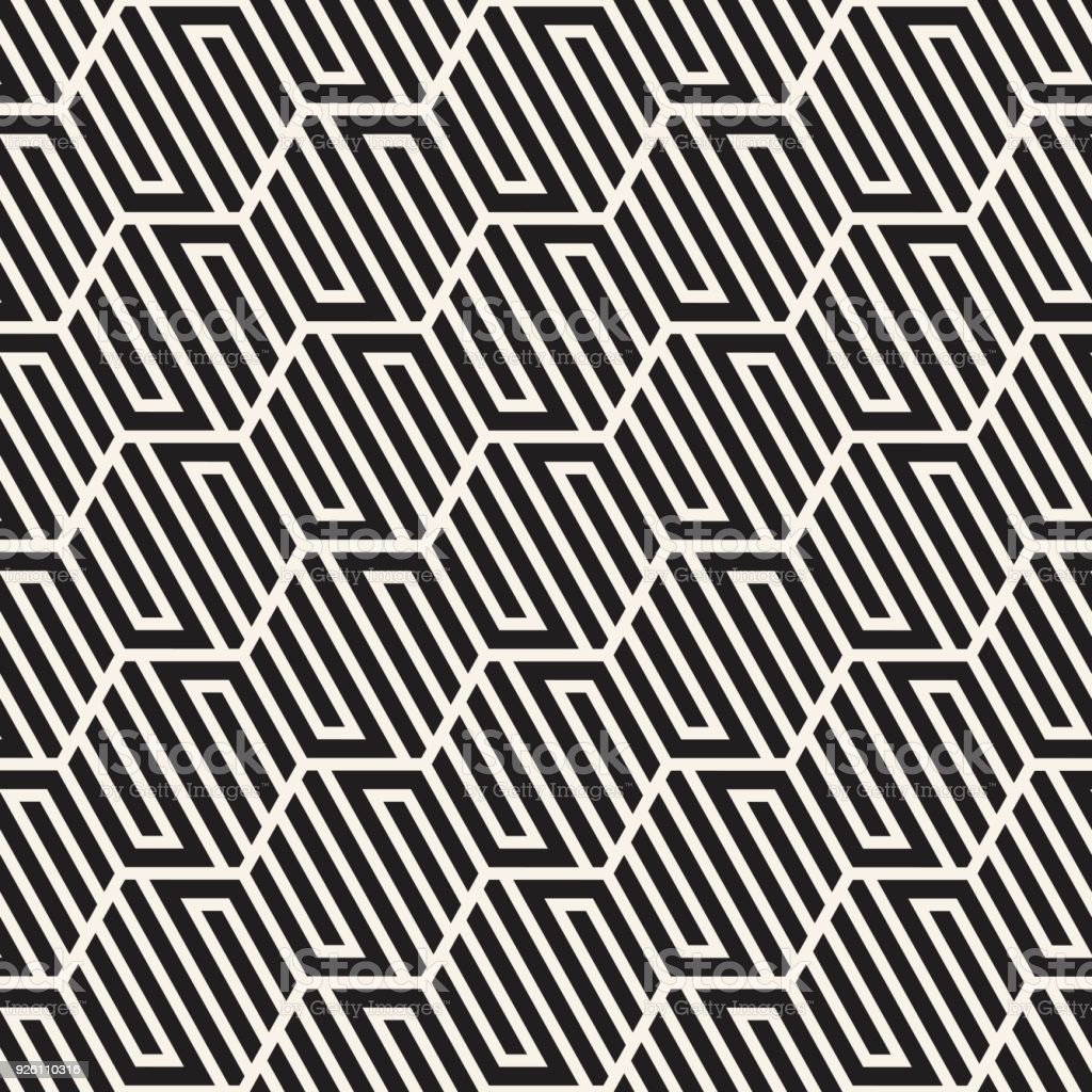 Vector Seamless Abstract Shapes Pattern Modern Stylish Stripes Texture Repeating Geometric Tiles Royalty