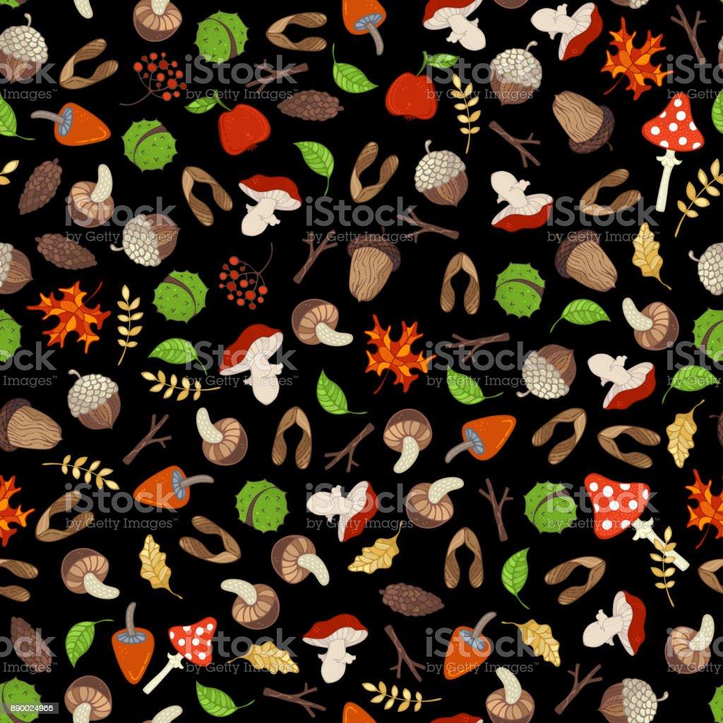 Vector seamless autumn pattern. vector art illustration