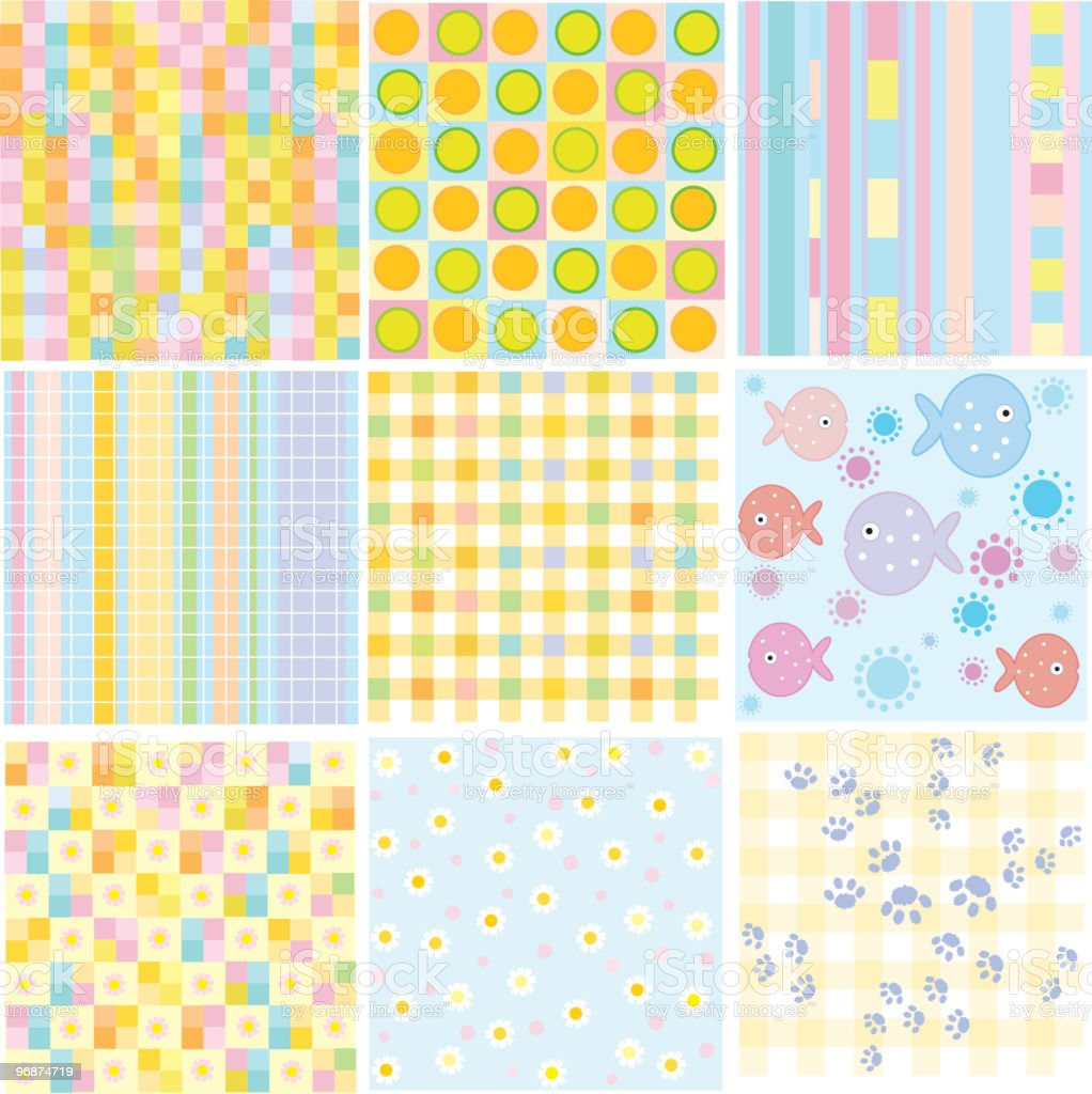 Vektor nahtlose baby Muster Lizenzfreies vektor nahtlose baby muster stock vektor art und mehr bilder von abstrakt