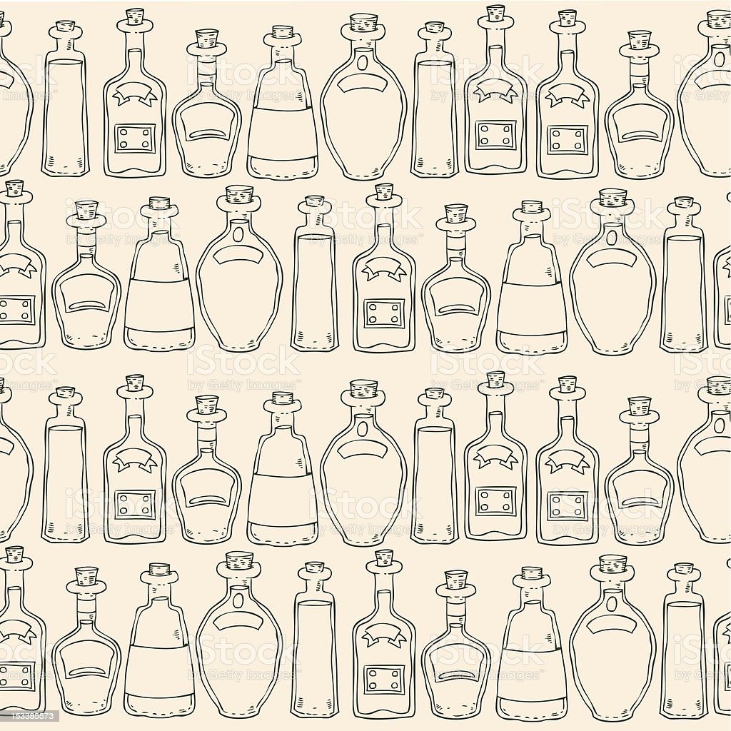 vector seamless background with bottles royalty-free vector seamless background with bottles stock vector art & more images of abstract