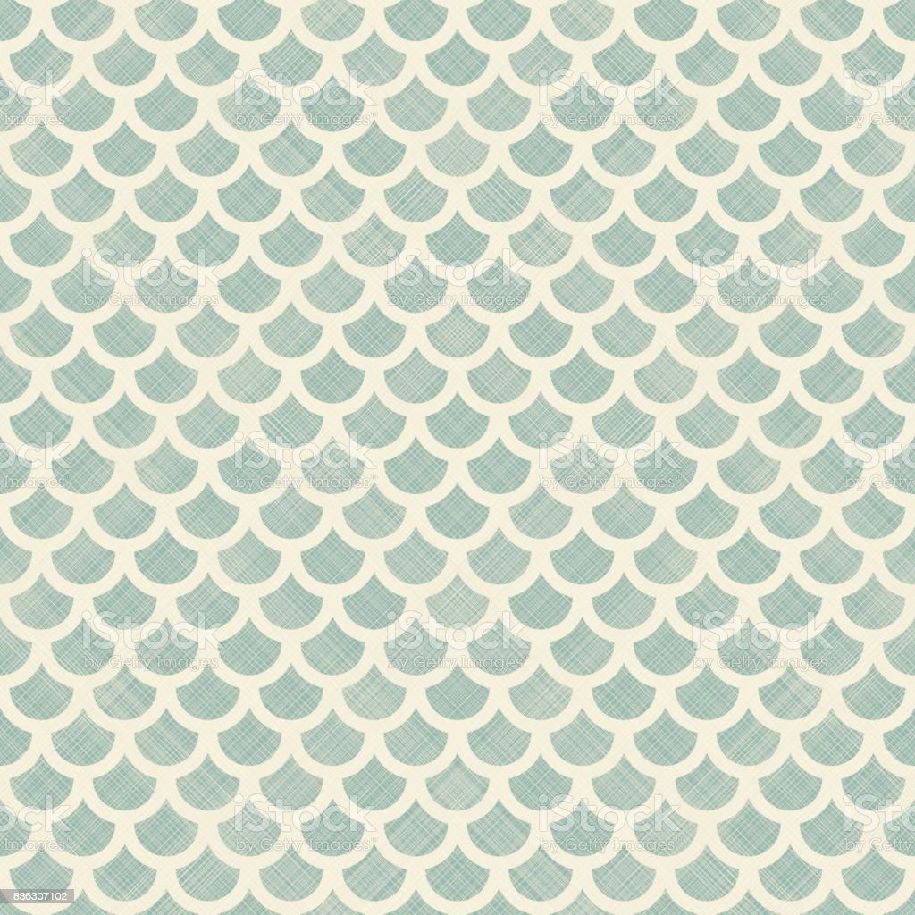 Vector seamless background with fish scales. Natural abstract pattern vector art illustration