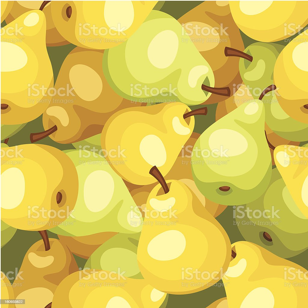 Vector seamless background with yellow and green pears. royalty-free vector seamless background with yellow and green pears stock vector art & more images of backgrounds