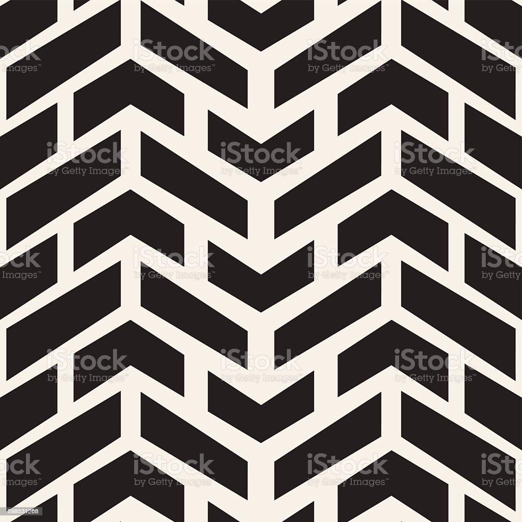 Vector Seamless Black And White Chevron Halftone Geometric Pattern vector seamless black and white chevron halftone geometric pattern – cliparts vectoriels et plus d'images de abstrait libre de droits