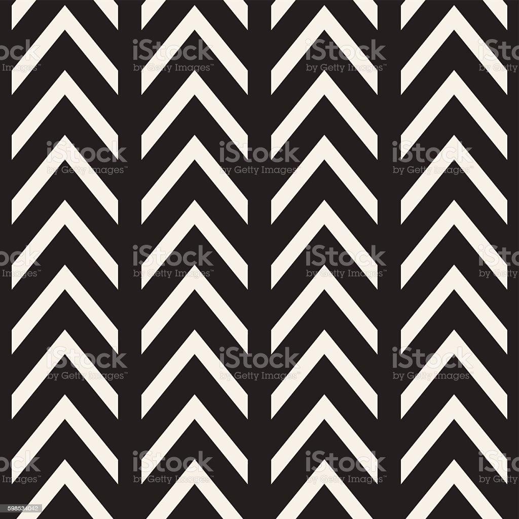 Vector Seamless Black And White Chevron ZigZag Lines Geometric Pattern vector seamless black and white chevron zigzag lines geometric pattern – cliparts vectoriels et plus d'images de abstrait libre de droits