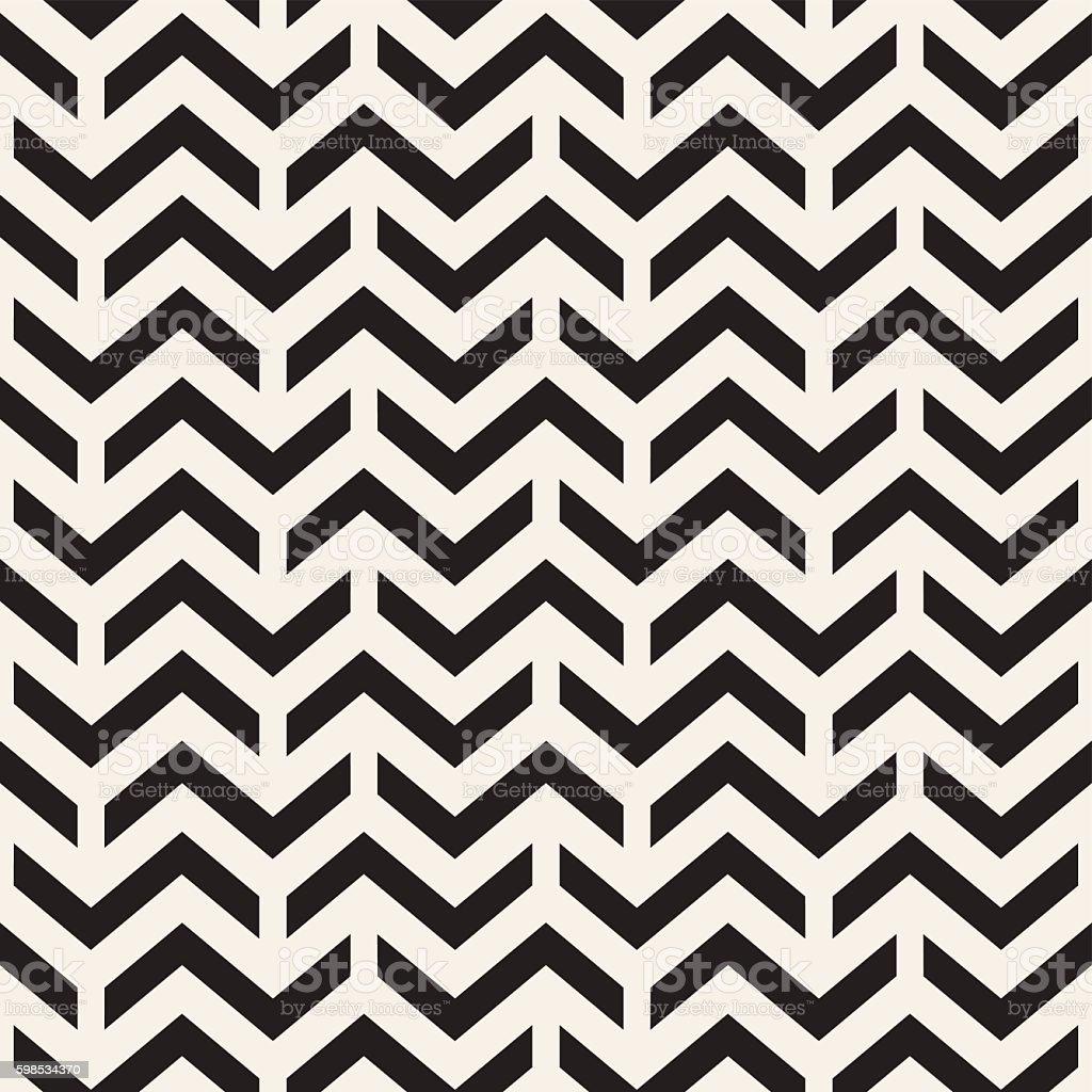 Image vectorielle uniforme en noir et blanc motif Chevron en ZigZag géométrique lignes de image vectorielle uniforme en noir et blanc motif chevron en zigzag géométrique lignes de – cliparts vectoriels et plus d'images de abstrait libre de droits