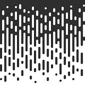 Vector Seamless Black And White Irregular Rounded Lines.