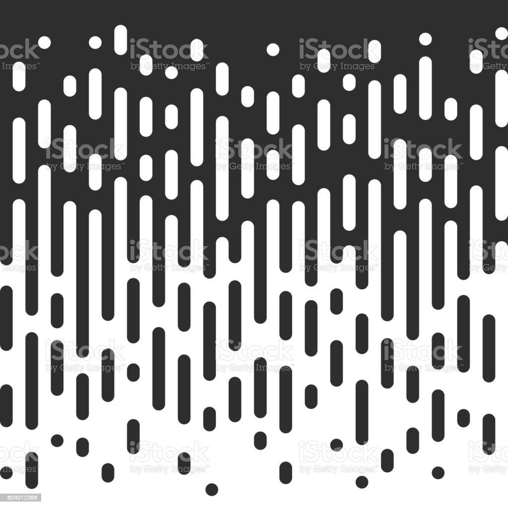 Vector Seamless Black And White Irregular Rounded Lines. vector art illustration